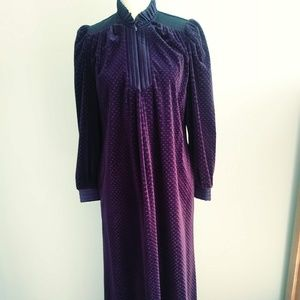Lounging Robe by Gilligan & O'Malley in Purple